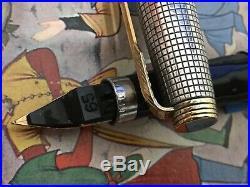 Sterling Silver Parker 75 -1st Yr Cap, #65 F Nib & Large Filler