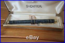 Stunning Sheaffer Targa Fountain Pen Marble Grey Prestige Model Rare -uninked