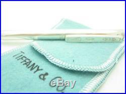 Tiffany & Co. Sterling Silver 1837 Blue Ink Purse Pen A