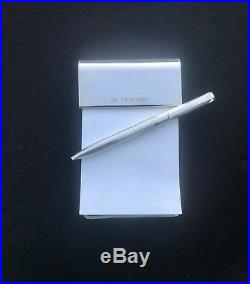 Tiffany & Co. Sterling Silver Notepad and T-Clip Pen