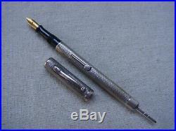 ULTRA RAREWaterman Combo Hide Pencil Sterling Silver Fountian Pen