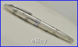 VIntage PILOT NAMIKI Custom Sterling Silver Fountain Pen For Repair or Parts