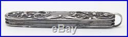VTG George Wostenholm IXL Nouveau Battin & Co. Sterling Silver Fob Pocket Knife