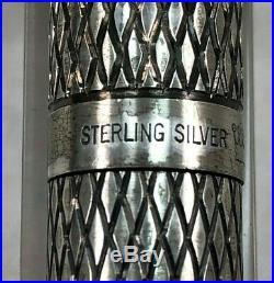 VTG Sheaffer Sterling Silver Imperial Diamond Pattern Fountain Pen 14K Nib