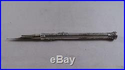Very Nice Antique Sterling Silver Pen and Pencil circa 1880