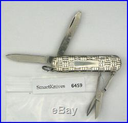 Victorinox Basketweave Sterling Silver swiss army knife. New, retired #6459