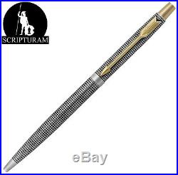 Vintage 925 Sterling Silver GT Parker 75 Classic Cisele Grid Click Ballpoint Pen