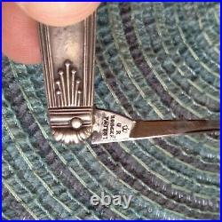 Vintage Antique Rodgers Sheffield Sterling Sliver Quill Pen Fob Pocket Knife