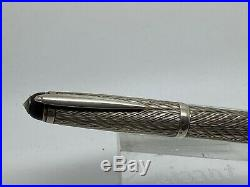 Vintage BARCLAY 1304 Centropen Large 835 Sterling Silver Fountain Pen 14K FLEX