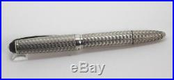 Vintage BARCLAY 1304 Centropen OS Sterling Silver Waves Fountain Pen Working