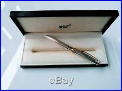 Vintage Montblanc Meisterstuck Solitaire Sterling Silver Ballpoint Pen 925 stod