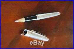 Vintage Montblanc Meisterstuck Solitaire Sterling Silver Rollerball Pen 925