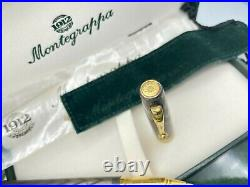 Vintage Montegrappa STERLING SILVER Rollerball Pen Large GT New in Box NOS