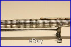 Vintage Nice USA Sterling Silver Fountain Pen Parker 75 With 18k Gold Nib/xf
