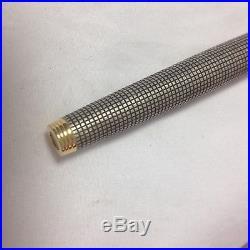 Vintage PARKER 75 Sterling Silver Cap & Barrel USA 14K Gold Fountain Pen