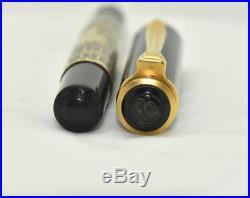 Vintage PELIKAN M700 TOLEDO Fountain Pen Sterling Silver Gold Plated Medium Nib