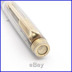 Vintage Parker 75 Cisele Sterling Silver Ballpoint Pen Cap Actuated- Clean