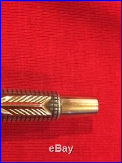 Vintage Parker Classic 75 Sterling Silver Gold Ball Pen T-Ball Jotter USA