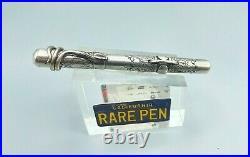 Vintage Portuguese Sterling Silver Fountain Pen Crescent filler Conklin #3 nib
