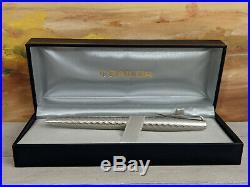 Vintage SAILOR Sterling Silver EF 18K Gold Nib Fountain Pen