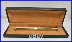 Vintage ST DUPONT Classique Fountain Pen Sterling Silver Vermeil 18K Fine Nib