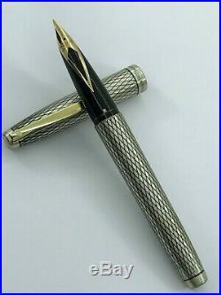 Vintage Sheaffer Imperial U. S. A Fountain Pen Sterling Silver 925 Nib Gold 14k