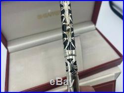 Vintage Sheaffer NOSTALGIA 925 Sterling Silver Fountain Pen 18K Med Nib MINT