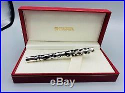 Vintage Sheaffer NOSTALGIA 925 Sterling Silver Fountain Pen 18K Med Nib NEW