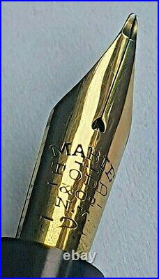 Vintage Silver Mabie Todd Swan Fountain Pen with 14k Gold Flexible Nib #2