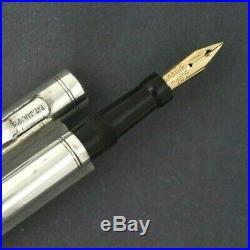 Vintage Swan Mabie Todd Men's Sterling Silver Fountain Pen Flexible Nib
