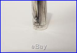 Vintage TIFFANY & CO Sterling Silver Fountain Pen W. S. HICKS 14k Nib