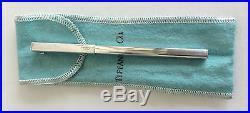 Vintage Tiffany & Co. Sterling Silver SQUARE T clip Ballpoint Pen Rare