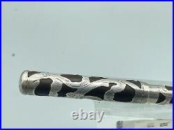 Vintage WATERMAN 12 999 FINE Silver Overlay Fountain Pen #2 Flexible Nib