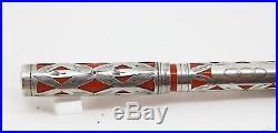 Vintage WATERMAN 452 Fountain Pen Basketweave Sterling Silver Overlay Restored