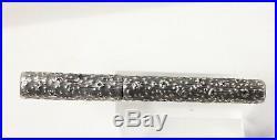 Vintage WATERMAN 72 Fountain Pen by N. Tardif TREE TRUNK Sterling Silver OVERLAY