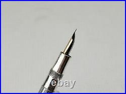 Vintage W. S Hicks Sterling Silver Fountain Pen & Pencil Set 14K Gold Nib