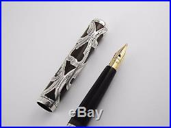 Vintage Waterman 12 Fountain Pen-Sterling Silver Filigree over BHR-USA 1900s