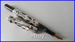 Vintage Waterman 452 Fillgree Sterling Silver Fountain Pen Excellent! (CL231)