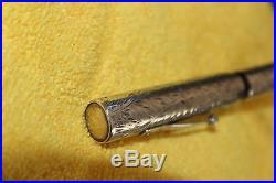 Vintage Waterman 452 Sterling Silver Etched Fountain Pen Flex NIb Box