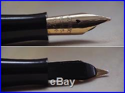 Vintage Watermans Gothic Sterling Silver Overlay Fountain Pen 14k Gold Nib