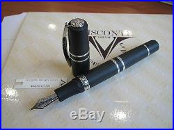 Visconti Homo Sapiens Sterling Silver O/S fountain pen 23kt Pd Medium nib MIB
