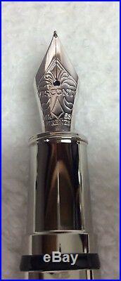 Visconti Metropolis Sterling Silver, Mint, Uninked, With Fantastic Design
