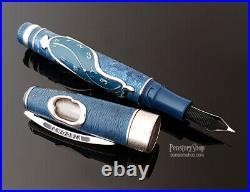 Visconti Salvador Dali Dance of Time Blue Silver Fountain Pen LE New