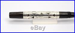 WATERMANS 452 Sterling Silver Filigree Overly Vintage Fountain Pen 1920s