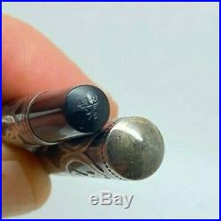 WATERMAN 412 1/2 SECRETARY Sterling Silver Filigree Overlay Fountain Pen