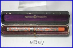 WATERMAN 412 Sterling Silver Overlay CARDINAL Fountain Pen #2 STAR nib NM BOX