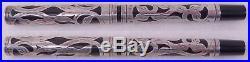 WATERMAN 414 Fountain Pen Eyedropper Sterling Silver Filigree Overlay #4 Nib