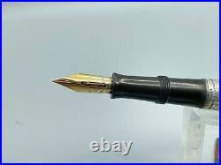 WATERMAN 415 PSF (455) Fountain Pen Sterling Silver GOTHIC Overlay #5 Flex Nib