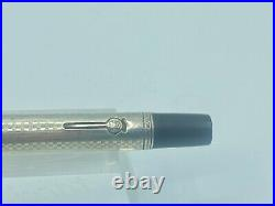 WATERMAN 415 PSF Fountain Pen Sterling Silver GOTHIC Overlay #5 Flex Med Nib
