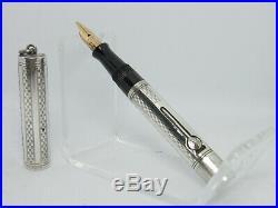 WATERMAN 452 1/2 V Ideal Sterling silver fountain pen flexible M nib #3